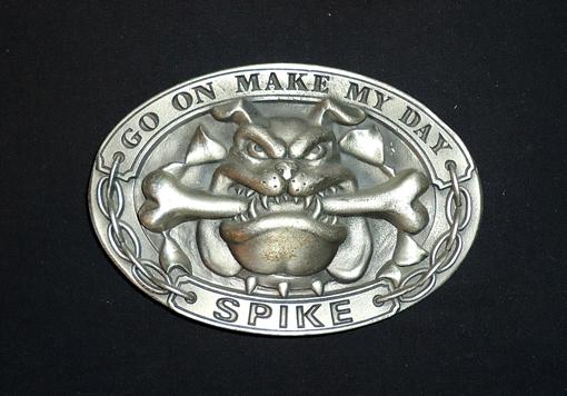 Boucle de ceinture   Bulldog – Go on make my day – Spike. – Terres ... 7c2457f000c