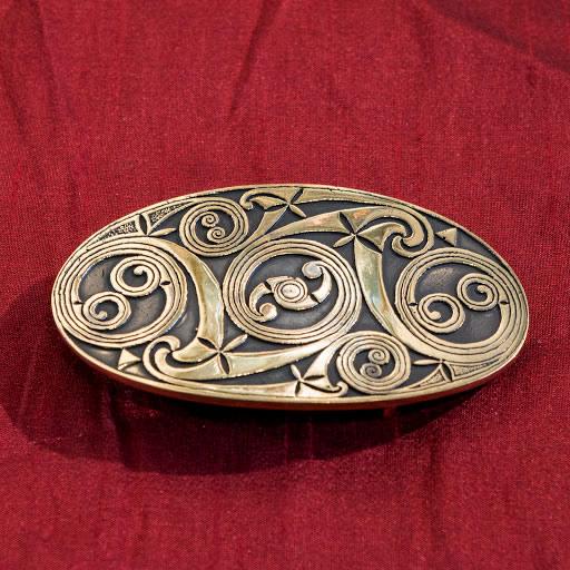 Boucle de ceinture   Ovale avec motifs celtiques – BRONZE. – Terres ... 51f8a94a2cd