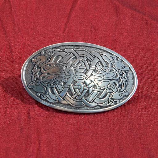 fe85aef9721b Boucle de ceinture   Ovale avec entrelacs zoomorphes – ETAIN ...