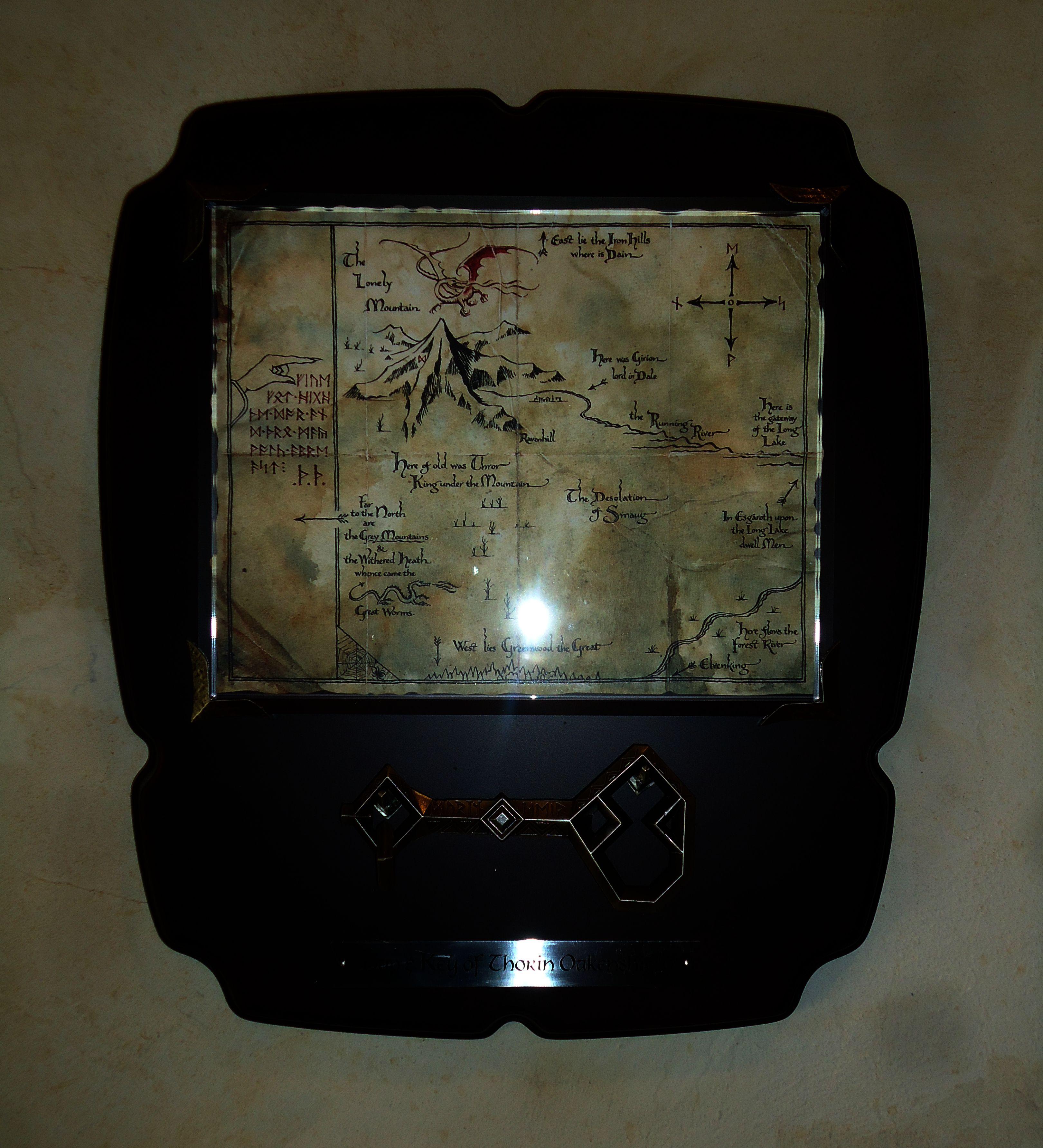 Carte de la Montagne solitaire avec clé de Thorin